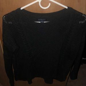 black american eagle sweater